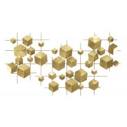 Złoty Dekor Ścienny Liście B
