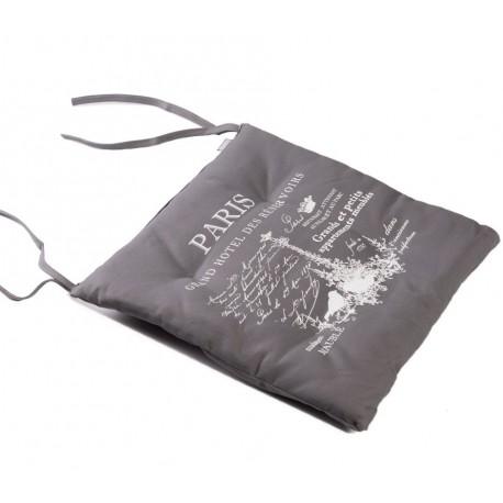 Szara ozodbna poduszka french home ze 100% bawełny