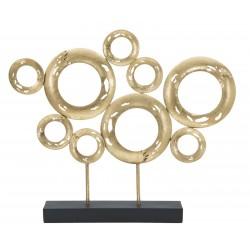 Złota Lampa Stołowa z Różowym Abażurem B