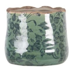 Ceramiczna Osłonka Na Doniczkę Zielona L