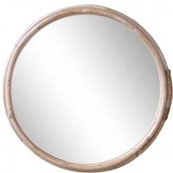 Lustro w Bambusowej Ramie Chic Antique Okrągłe C