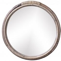 Lustro w Bambusowej Ramie Chic Antique Okrągłe B