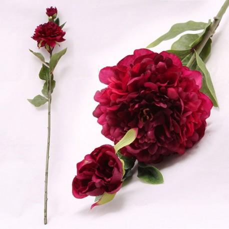 Kwiat sztuczny w postaci rozwiniętej piwoni