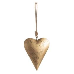 Złota Zawieszka Serce A