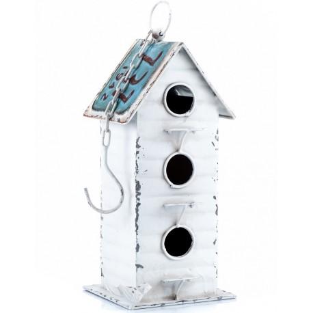 metalowy domek dla ptaszków
