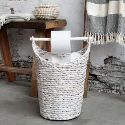 Stojak Na Papier Toaletowy Chic Antique z Koszem Biały