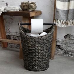 Stojak Na Papier Toaletowy Chic Antique z Koszem Ciemnobrązowy