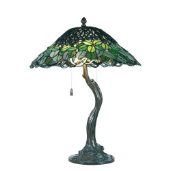 Lampa Tiffany Stołowa Q Clayre & Eef