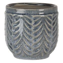 Ceramiczna Osłonka Na Doniczkę Szaroniebieska M