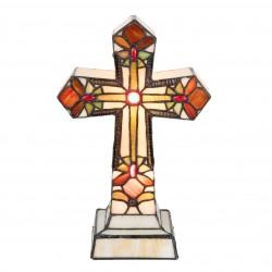 Lampa Witrażowa Stołowa Krzyż A Clayre & Eef