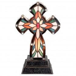 Lampa Witrażowa Stołowa Krzyż B Clayre & Eef