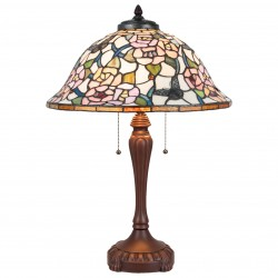 Stojąca Lampa Tiffany Duża A Clayre & Eef