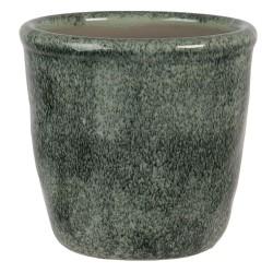 Ceramiczna Osłonka Na Doniczkę w Kwiaty Niska S