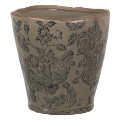 Ceramiczny Wazon Ozdobny Szaroniebieski S